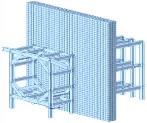 潛盾機反力座背撐材應力檢核