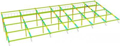 台南六甲太陽能架 結構分析檢核